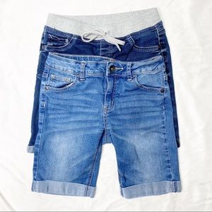 Justice bundle of 2 Bermuda style shorts